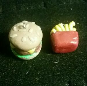 Jewelry - Burger and fries earrings
